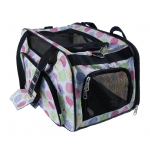 White polka dots designer dog shoulder bag